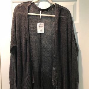 free people open cardigan, never worn XS